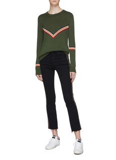 Etre Cecile  Chevron stripe Merino wool blend sweater