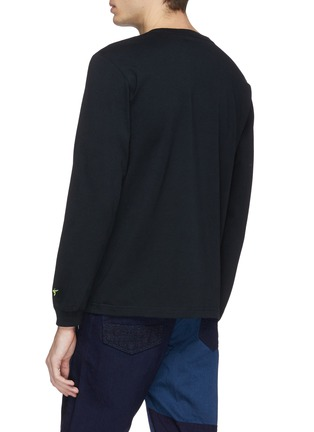 Back View - Click To Enlarge - FDMTL - Sashiko print long sleeve T-shirt