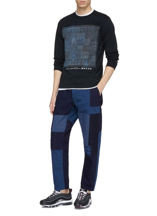 Figure View - Click To Enlarge - FDMTL - Sashiko print long sleeve T-shirt