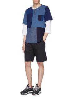 FDMTL Stripe outseam pleated shorts