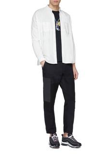 FDMTL Contrast chest pocket oversized seersucker shirt