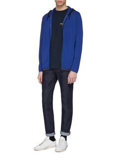 Theory 'Emmerson' contrast hood knit zip hoodie
