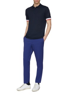 Theory 'Luxe' contrast cuff polo shirt