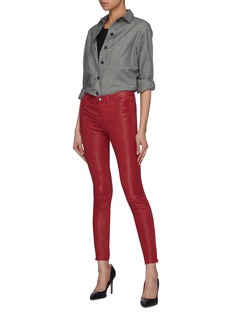 J Brand Zip cuff skinny leather pants