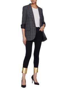 J Brand 'Alana' metallic split cuff cropped skinny jeans