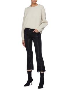 J Brand 'Selena' lace cuff cropped boot cut pants