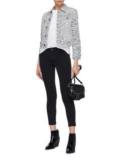 J Brand '835' glitter cropped skinny jeans