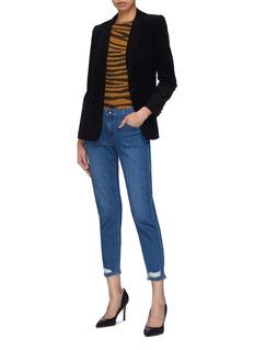 J Brand 'Sadey' ripped cuff cropped jeans