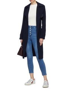 J Brand 'Natasha' side button fly cropped skinny jeans