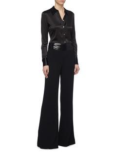 Galvan London Sequin waist wide leg pants
