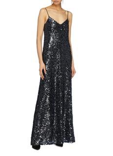 Galvan London Paillette slip dress
