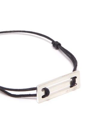 Detail View - Click To Enlarge - Le Gramme - 'Le 25/10g' silver charm cord bracelet