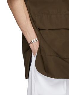 Le Gramme 'Le 33/10g' silver charm cord bracelet