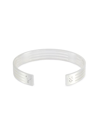 Detail View - Click To Enlarge - Le Gramme - 'Le 27 Grammes' punched brushed sterling silver cuff