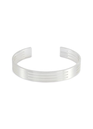 Main View - Click To Enlarge - Le Gramme - 'Le 27 Grammes' punched brushed sterling silver cuff