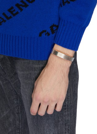 Figure View - Click To Enlarge - Le Gramme - 'Le 27 Grammes' punched brushed sterling silver cuff