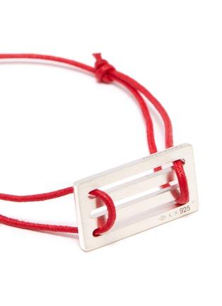 Detail View - Click To Enlarge - Le Gramme - 'Le 33/10g' silver charm cord bracelet