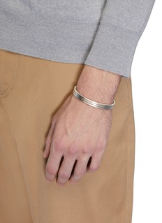 Le Gramme 'Le 19 Grammes' punched brushed sterling silver cuff