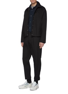 Mackintosh Faux suede panel shirt jacket