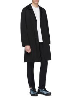 Mackintosh Belted concealed placket coat