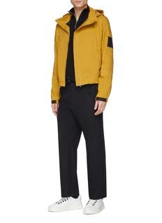 Mackintosh Retractable hood cropped raglan jacket