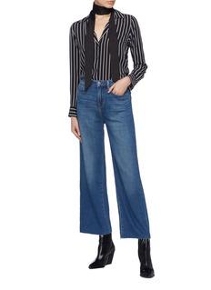 L'Agence 'Danica' raw cuff wide leg jeans