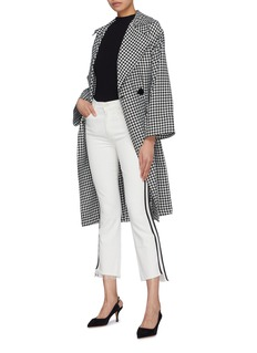 MOTHER 'The Insider Crop Step Fray' stripe outseam jeans