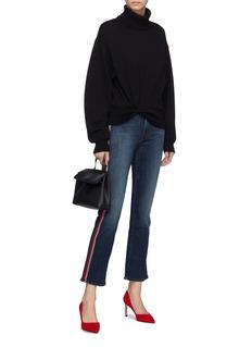 MOTHER 'Hustler Ankle' glitter stripe outseam flared jeans