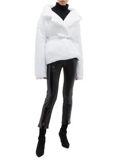 Norma Kamali 'Sleeping Bag' packable oversized puffer car coat