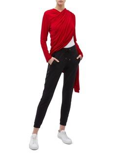 Norma Kamali Asymmetric convertible drape open cardigan