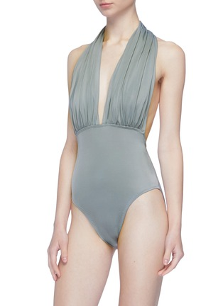 Figure View - Click To Enlarge - NORMA KAMALI - 'Low Back Mio' halterneck one-piece swimsuit