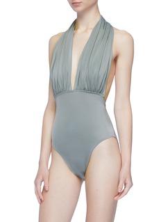 Norma Kamali 'Low Back Mio' halterneck one-piece swimsuit