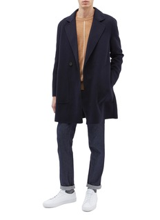 EQUIL 'Syracuse' double breasted wool-cashmere melton coat