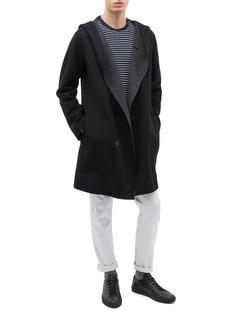 EQUIL 'Reykjivik' reversible hooded wool-cashmere melton coat