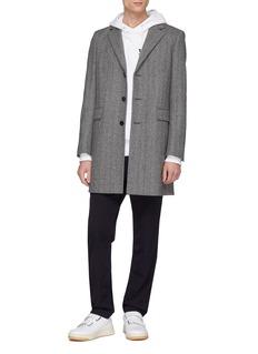 EQUIL 'Aspen' single breasted wool blend herringbone coat