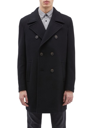 Main View - Click To Enlarge - EQUIL - 'Edinburgh' double breasted wool blend melton coat