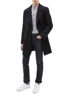 EQUIL 'Edinburgh' double breasted wool blend melton coat