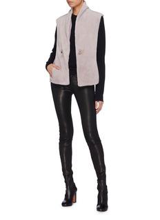 Inniu Loro Piana® wool-cashmere back mink fur hooded gilet