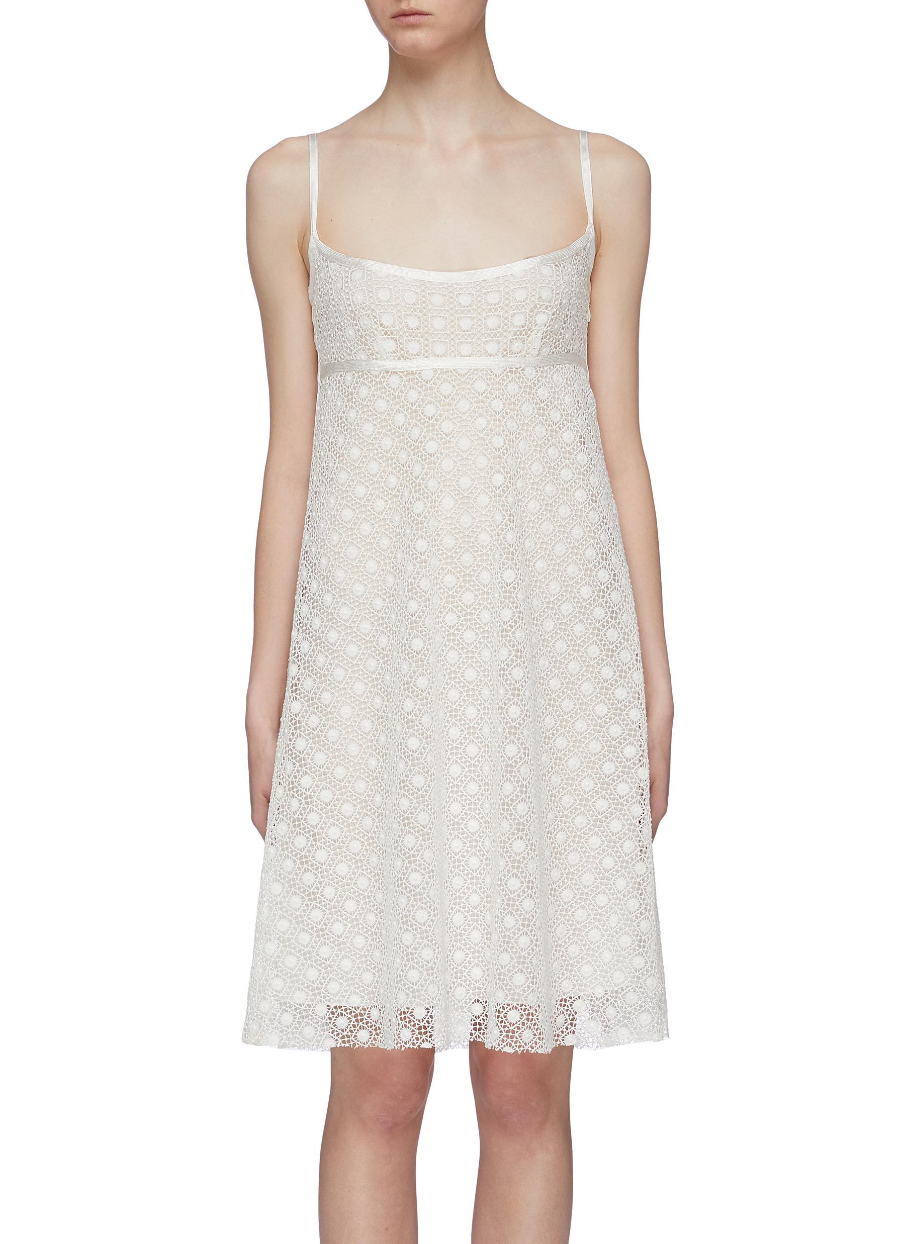 Marc Jacobs Dresses Geometric crochet lace empire waist slip dress
