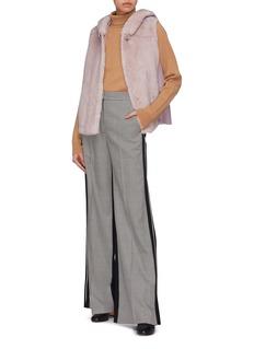 Inniu Loro Piana® cashmere knit back mink fur gilet