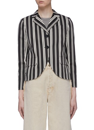 Main View - Click To Enlarge - MARC JACOBS - Curve hem stripe blazer