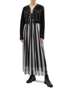 Marc Jacobs Stripe silk chiffon sleeveless dress