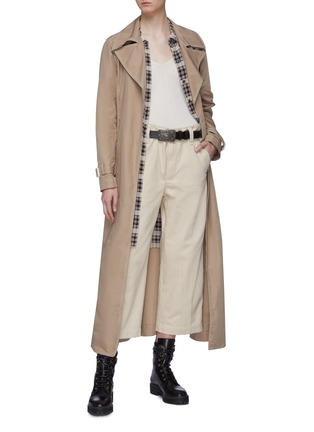 Figure View - Click To Enlarge - MARC JACOBS - Dobby stripe culottes