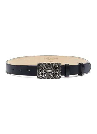Main View - Click To Enlarge - MARC JACOBS - 'Christy' embellished buckle leather belt