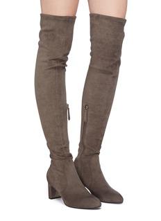 Pedder Red 'Ella' suede thigh high boots