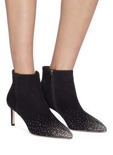 Pedder Red 'Vivian' strass suede ankle boots