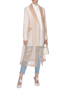 KIMHĒKIM Belted organdy trench coat