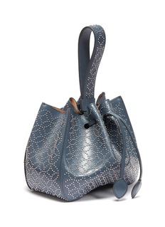 Alaïa 'Clou Arabesque' geometric stud leather bucket bag