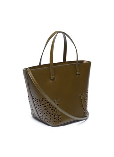 Alaïa 'Vienne Vague' geometric lasercut leather tote