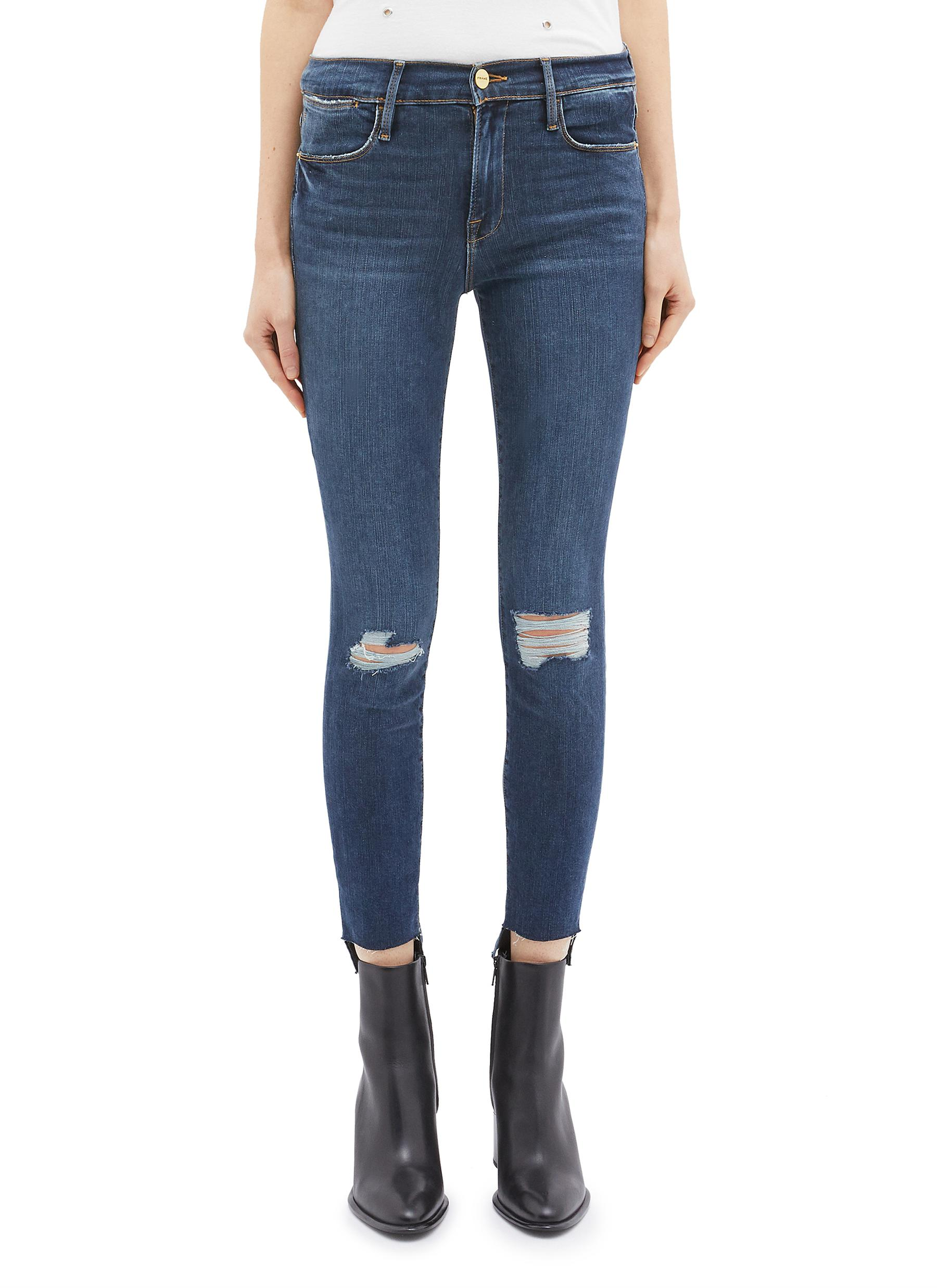 Buy High Crawford waist skinny jeans picture trends